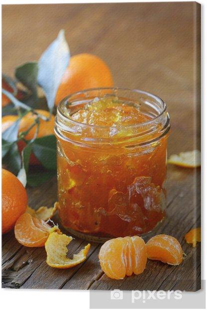 Obraz na płótnie Dżem pomarańczowy mandarynka marmolady w szklanym słoiku - Posiłki