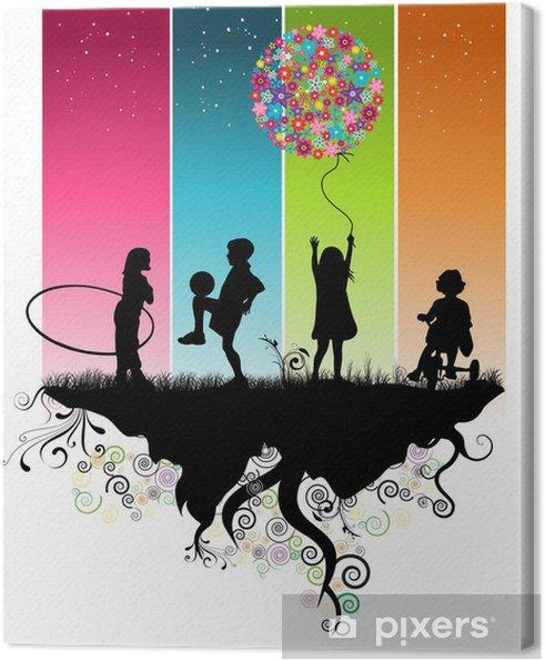 Obraz na płótnie Dzieci bawiących - Przeznaczenia