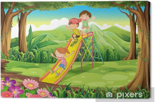 Obraz na płótnie Dzieci w lesie przesuwnych - Przeznaczenia