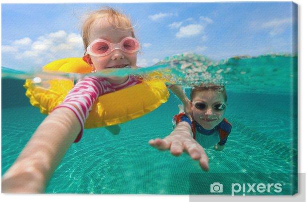 Obraz na płótnie Dzieci zabawy pływania na wakacjach - Sporty wodne