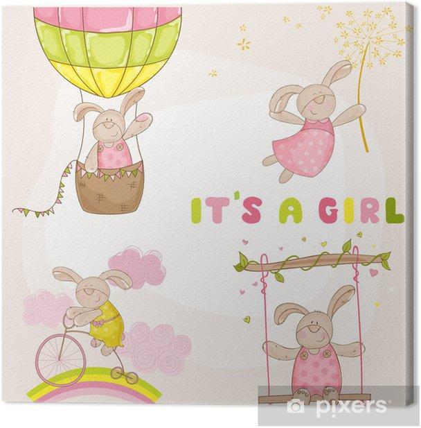 Obraz na płótnie Dziecko Bunny Set - Baby Shower lub przyjazdu karty - w wektorze - Świętowanie