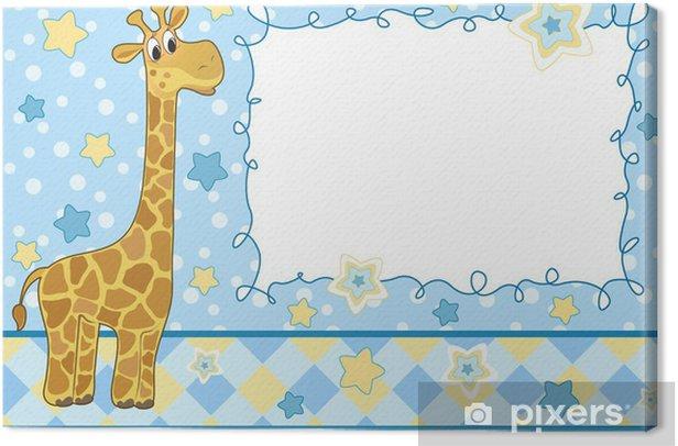 Obraz na płótnie Dziecko frame. Żyrafa. - Tła