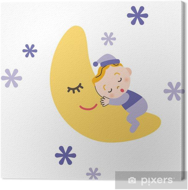 Obraz na płótnie Dziecko śpi z księżyca - Wartości rodzinne
