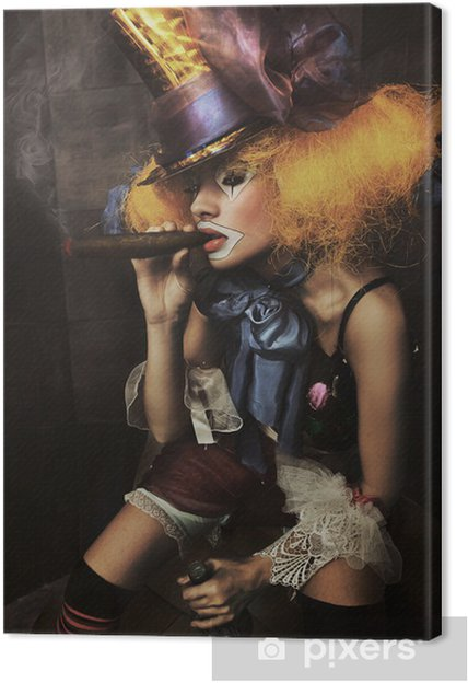 Obraz na płótnie Dzieła sztuki zdjęcia złego klauna - Kobiety
