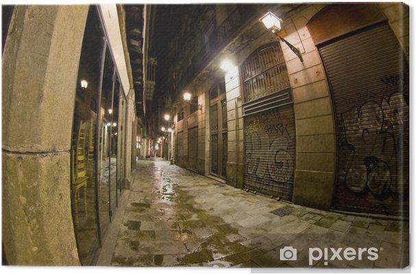 Obraz na płótnie Dzielnicy Gotyckiej - Freneria street at night-time - Tematy