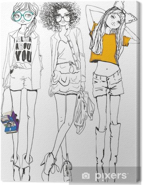 Obraz na płótnie Dziewcząt - Moda