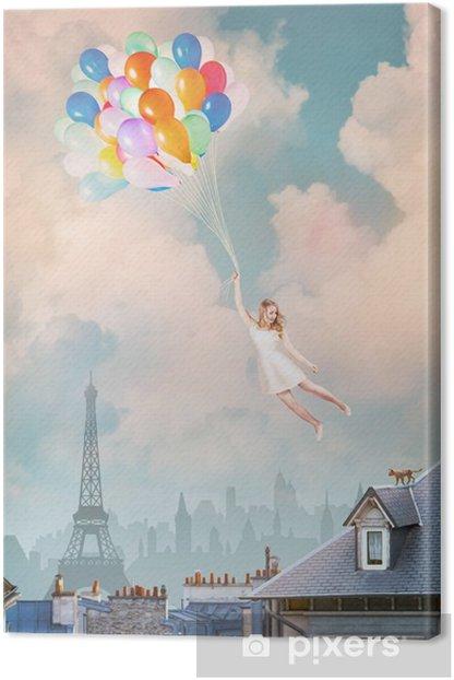 Obraz na płótnie Dziewczyna Balloon - Miasta europejskie