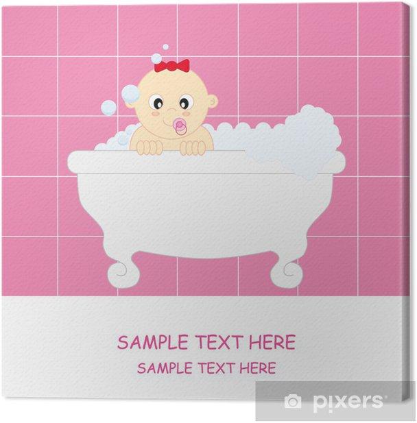 Obraz na płótnie Dziewczyna karty Baby pozdrowienia - Niemowlęta