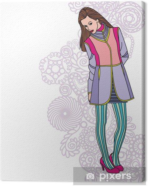 Obraz na płótnie Dziewczyna mody - Moda