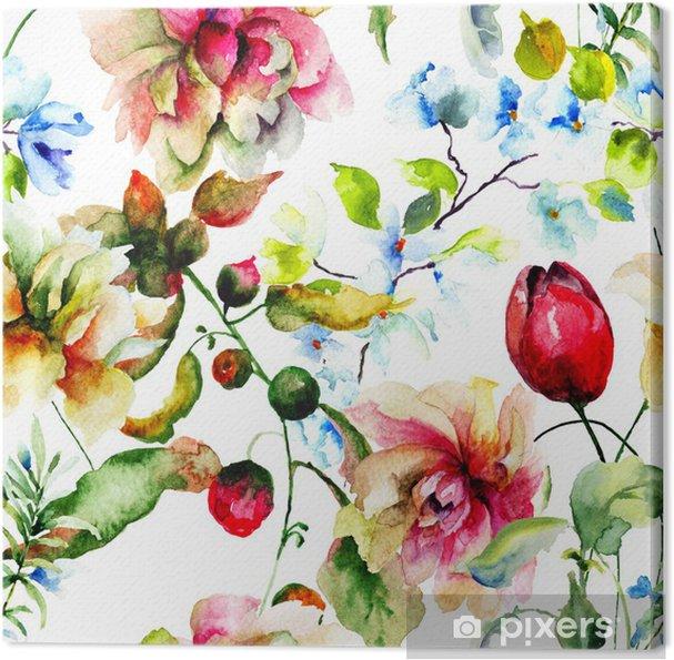 Obraz na płótnie Dzikie kwiaty ozdobne - Kwiaty