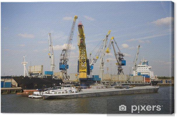 Obraz na płótnie Dźwigi i nośniki 11 - Transport wodny