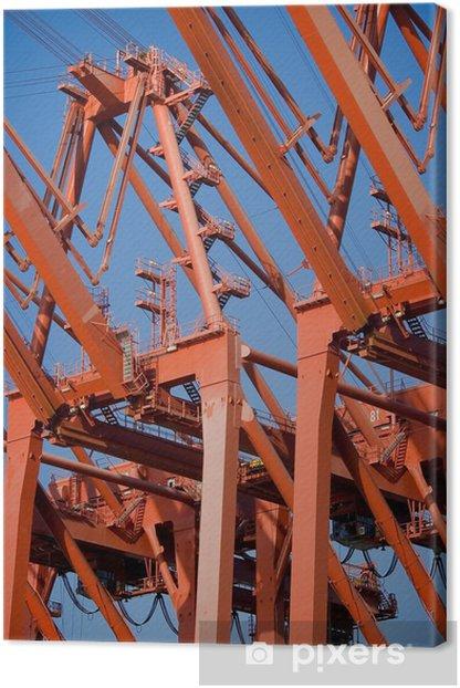 Obraz na płótnie Dźwigi stoczniowe - Infrastruktura