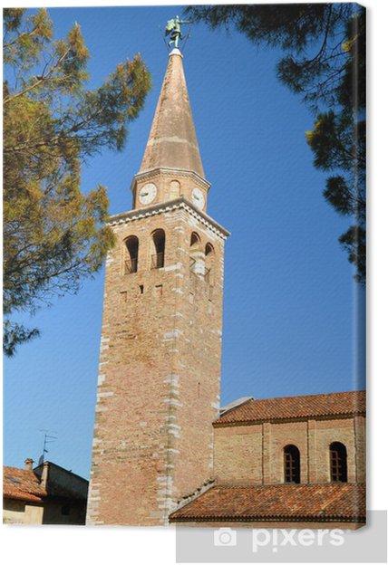 Obraz na płótnie Dzwonnica przy Bazylice św Eufemii, Grado, Włochy - Europa