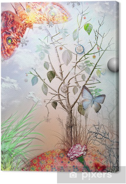 Obraz na płótnie Eden ogród z serii - Ezoteryka