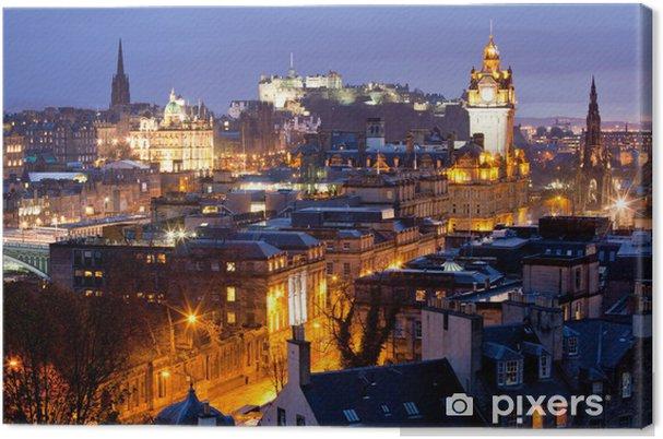 Obraz na płótnie Edinburgh Kontury budynku i zamku Scotland - Tematy