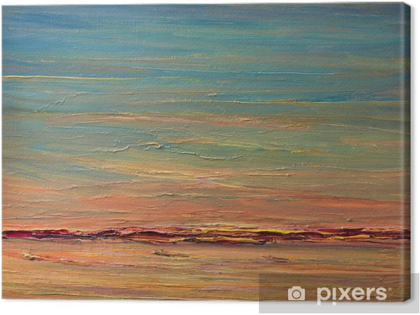 Obraz na płótnie Ekspresyjny Sunset Over The River - Sztuka i twórczość