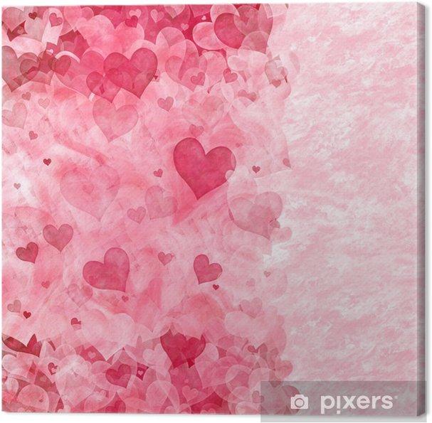 Obraz na płótnie Eleganckie tło z przezroczystego różowe i czerwone serca - Szczęście
