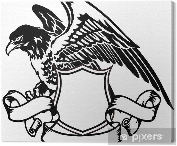 Obraz na płótnie Emblemat orła - Naklejki na ścianę