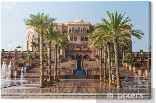 Obraz na płótnie Emirates Palace w Abu Dhab - Pejzaż miejski