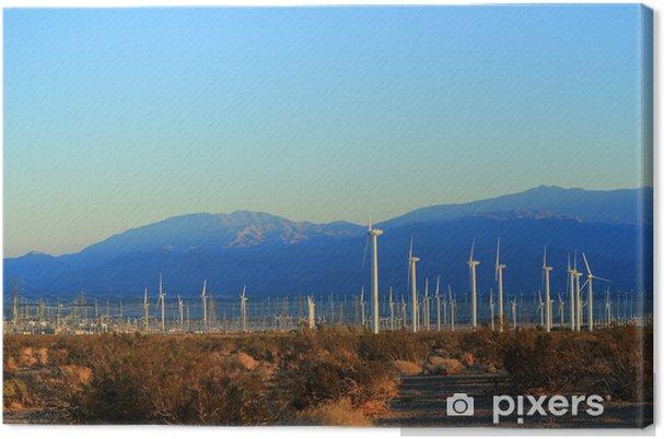 Obraz na płótnie Energii elektrycznej z wiatru w Kalifornii - Budynki przemysłowe i handlowe