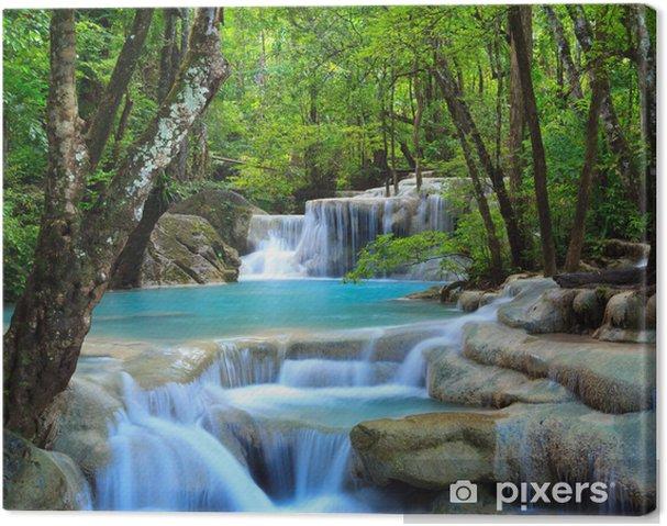 Obraz na płótnie Erawan wodospad, Kanchanaburi, Tajlandia - Wodospady
