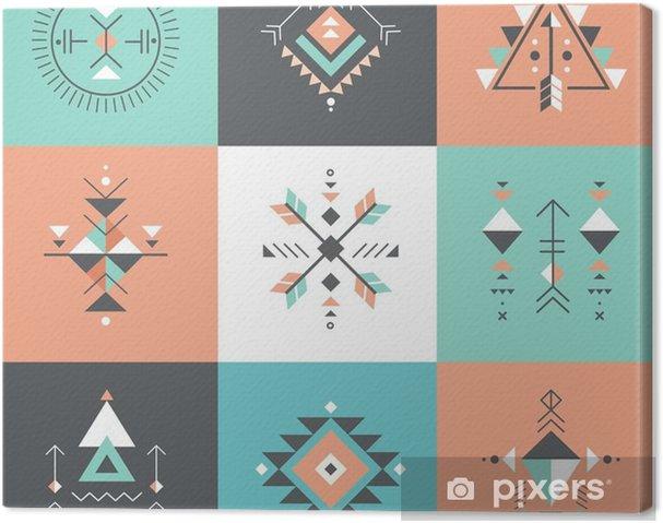 Obraz na płótnie Esoteric, Alchemia, świętej geometrii, tribal i Azteków, świętej geometrii, Mystic kształty, symbole - Zasoby graficzne