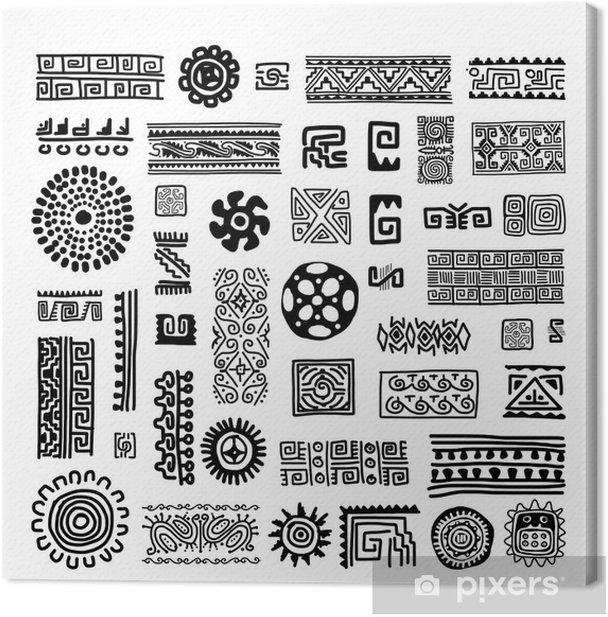 Obraz na płótnie Etnicznych handmade ozdoba dla projektu - Sztuka i twórczość