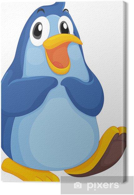 Obraz na płótnie Fajny pingwin -