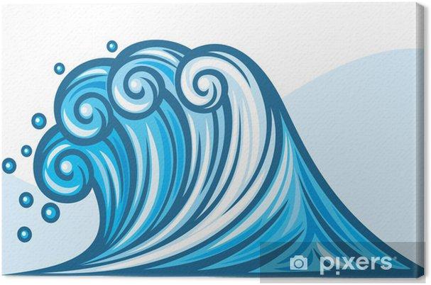 Obraz na płótnie Fal morskich - Tła