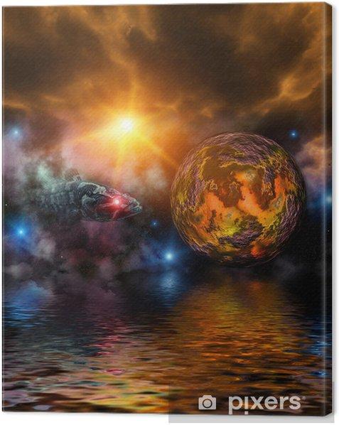 Obraz na płótnie Fantastic Universe - Przestrzeń kosmiczna