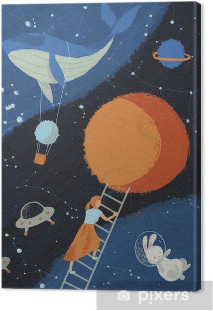 Obraz na płótnie Fantastyczna ilustracja o kosmosie - Nauka