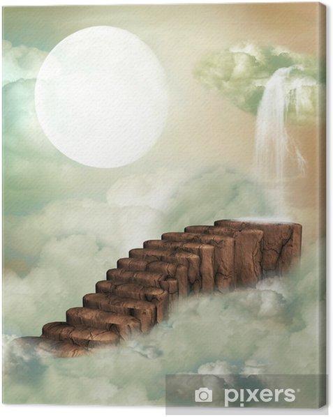 Obraz na płótnie Fantasy schody - Klęski żywiołowe