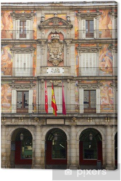Obraz na płótnie Fasada starego budynku, Madryt, Hiszpania - Miasta europejskie