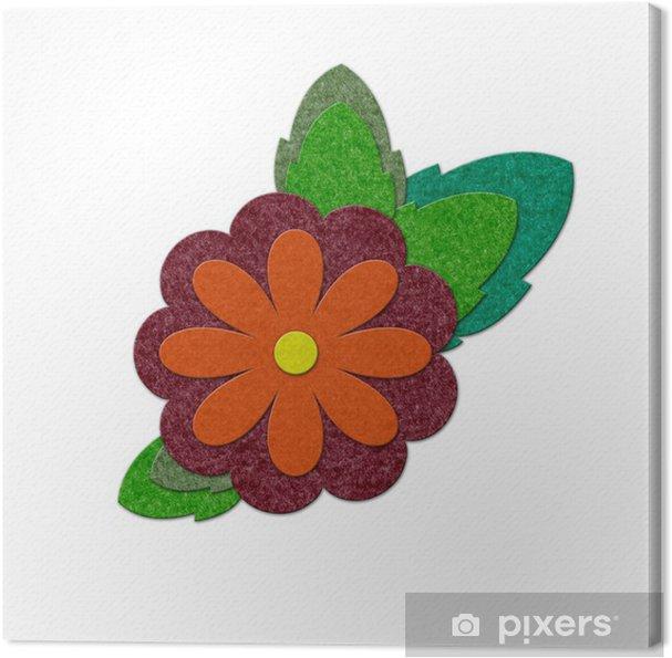 Obraz na płótnie Filc kwiat - Kwiaty