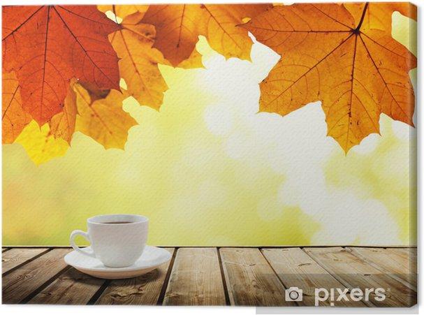 Obraz na płótnie Filiżanka kawy i jesienny las - Do kawiarni