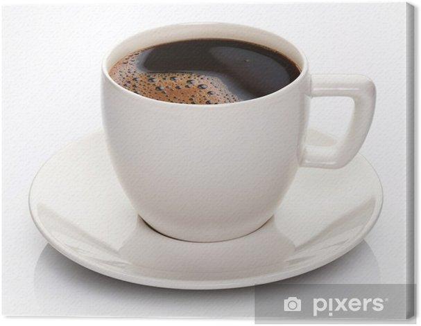 Obraz na płótnie Filiżanka kawy i spodek na białym tle. - Posiłki