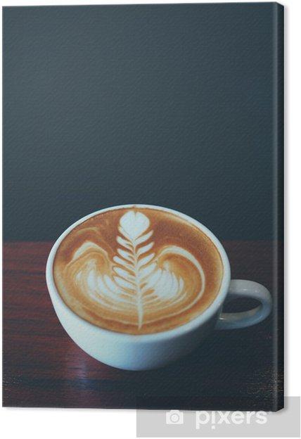 Obraz na płótnie Filiżanka kawy latte sztuki w kawiarni - Napoje