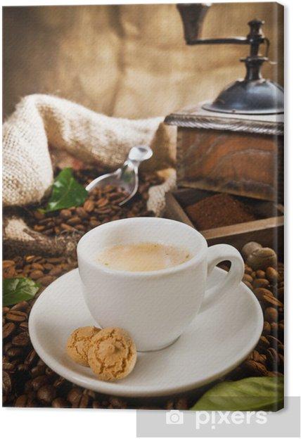 Obraz na płótnie Filiżanka kawy - Posiłki
