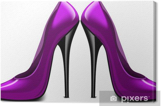 Obraz na płótnie Fioletowe buty wektor - Moda