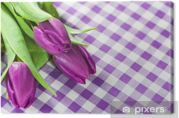 Obraz na płótnie Fioletowe tulipany - Lila Tulpen - Kwiaty