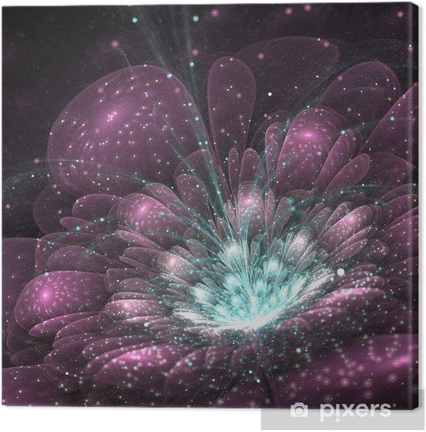 Obraz na płótnie Fioletowy kwiat fraktali - Kwiaty