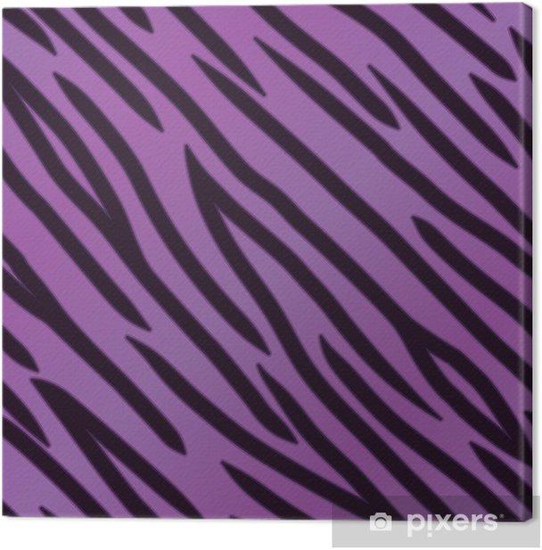 Obraz na płótnie Fioletowy wzór tygrysa - Tła