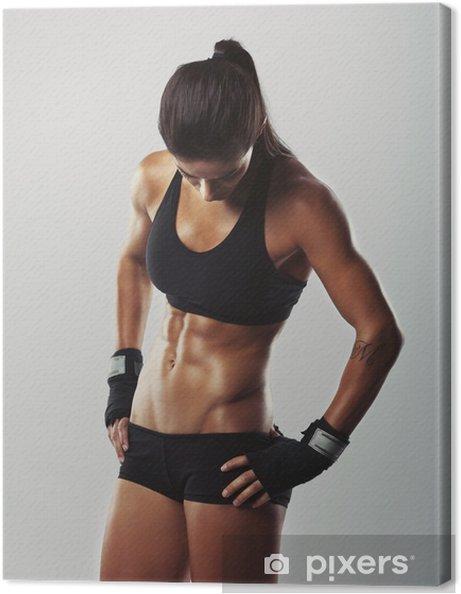 Obraz na płótnie Fitness kobieta odpoczywa po treningu - Tematy
