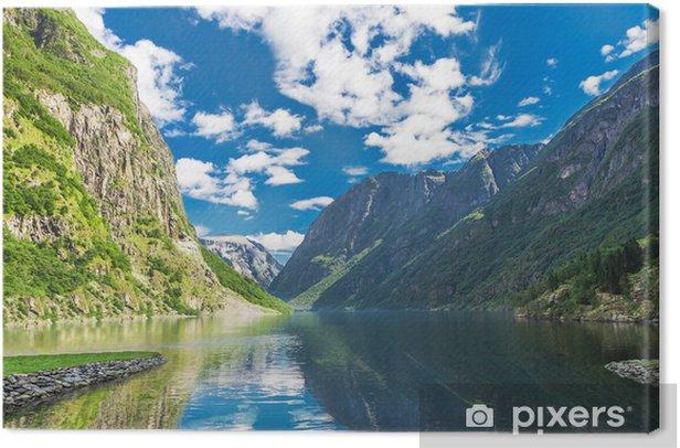 Obraz na płótnie Fjord w Norwegii - Cuda natury