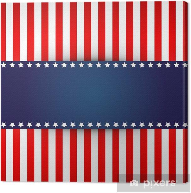 Obraz na płótnie Flaga amerykański projekt - Tła
