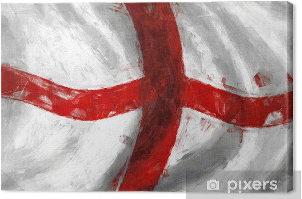 Obraz na płótnie Flaga Anglii malarstwo abstrakcyjne tło - Tematy