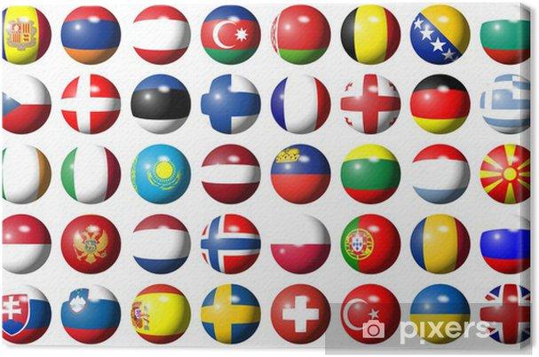 Obraz na płótnie Flagi Europy - Znaki i symbole