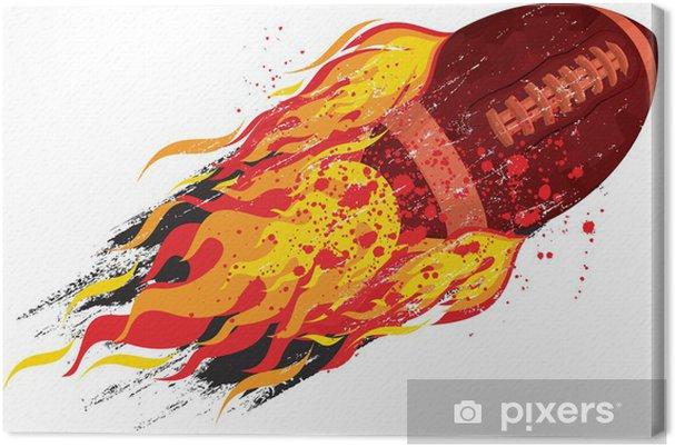 Obraz na płótnie Flaming piłkę nożną - Artykuły sportowe