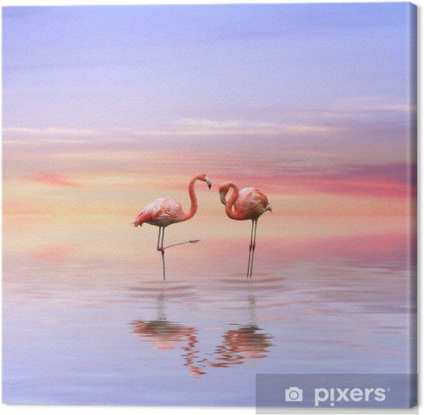 Obraz Na Płótnie Flamingi Miłość Pixers żyjemy By Zmieniać