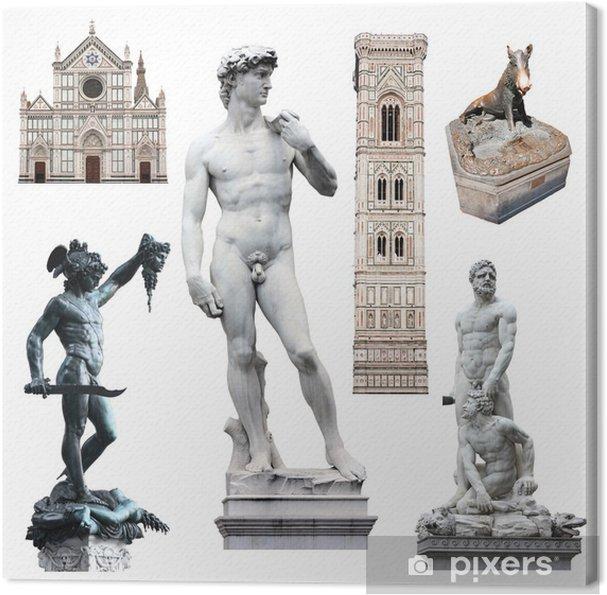 Obraz na płótnie Florencja - David i inne symbole - Europa